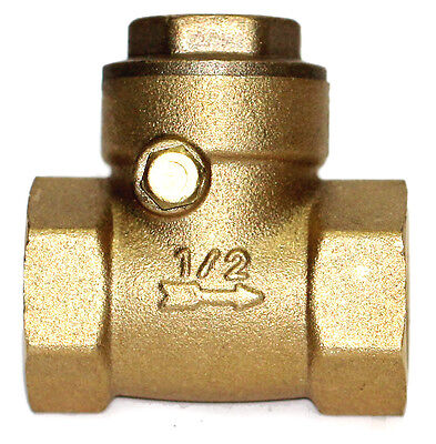 Nni 12 Npt Brass Swing Check Valve Soft Seat Rubber Clapper 200wog
