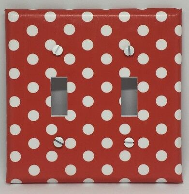 Minnie Mouse Light Switch Cover Plates Disney Girls Room Decor Red Polka Dots ](Red Minnie Mouse Plates)