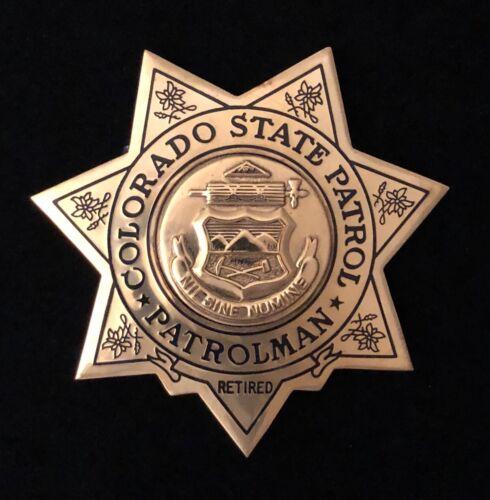 Colorado CO Highway Patrol State Police Badge - SUN Flat Retired **RARE**