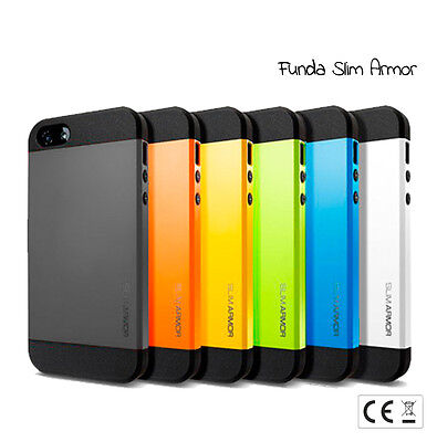 01edd32feab Funda carcasa SLIM ARMOR compatible iPhone 5 tpu - policarbonato colores