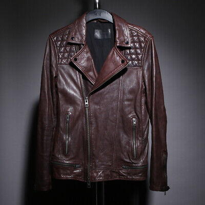 ALL SAINTS Conroy Leather Jacket Size S SMALL kushiro cargo callerton