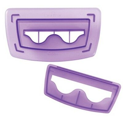 Wilton Sugar Sheets Wave Border Cutting Insert Baking Cake Decorating Purple