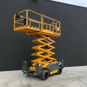 Rough Terrain Scissor Lift Hire Melbourne West Truganina Melton Area Preview