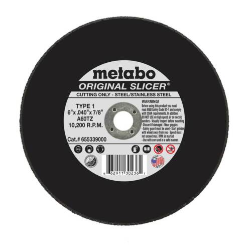 "(50) Metabo 55.339 55339 6"" Slicer Cut-off Wheels-Box of 50"