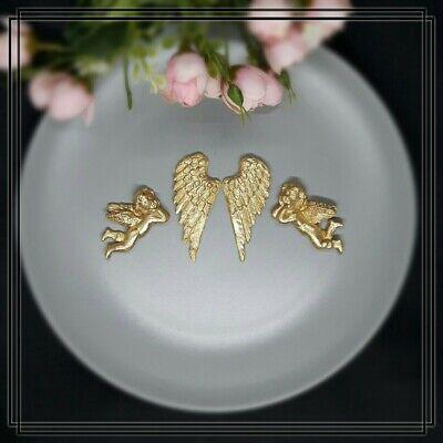 Engel Gold, Flügel in Gold aus Fondant, Tortendekor, Fondantdeko, Caketopper