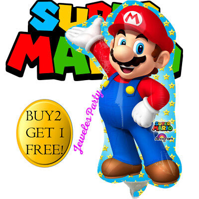 HUGE! SUPER MARIO Luigi Birthday Party Balloon Balloons Supplies Decoration - Mario Balloon