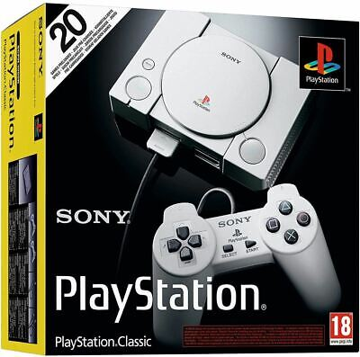 OFFICIAL Sony PlayStation PS Classic Console Free 20 Games, NEW SEALED UK STOCK