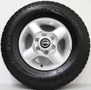 16-inch-Genuine-NISSAN-NAVARA-D22-2011-MODEL-Wheels-used-BRIDGESTONE-AT-tyres