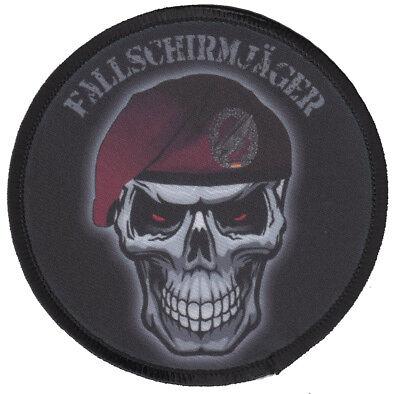 FALLSCHIRMJÄGER SKULL Aufnäher/Patch Bundeswehr/Reservist/BW/Army/Totenkopf/
