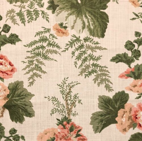 SCHUMACHER Wycombe Park Pink Green Floral Linen Remnant New
