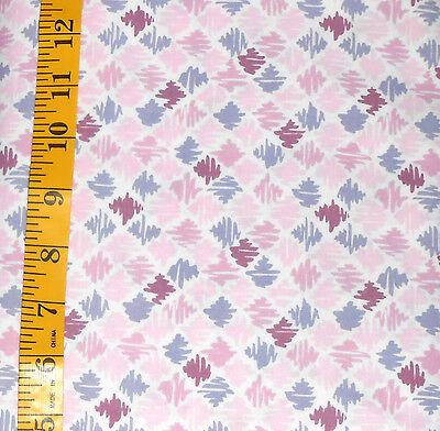 Fabric Jo Ann Quilt Blocks Garden Trellis Purple Paintbrush 100  Cotton 1 25 Yds