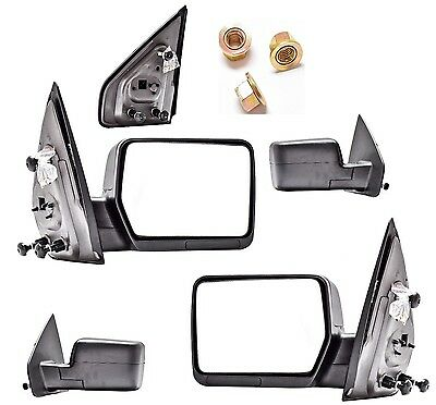 New Manual Folding Towing Mirror PAIR FOR 2004 2005 2006 2007 2008 Ford F150