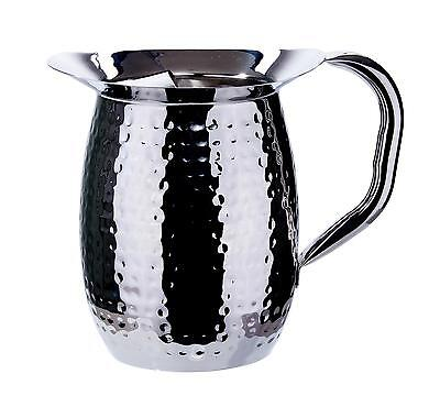 Winco Wpb-3ch 3qt Deluxe Hammered Stainless Steel Bell Pitcher