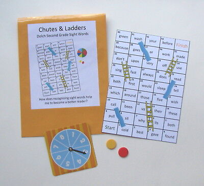 Teacher Created Activity Dolch Second Grade Sight Word Chutes & Ladders Game ()