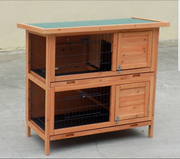 New Large Rabbit Hutch with BASE Chicken Coop Guinea Pig cage