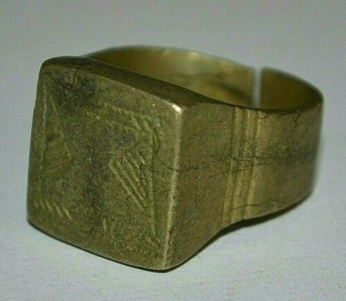 Antique African Tuareg Ethnic Tribal Metal Ring From Niger, Africa - Ring Size 9