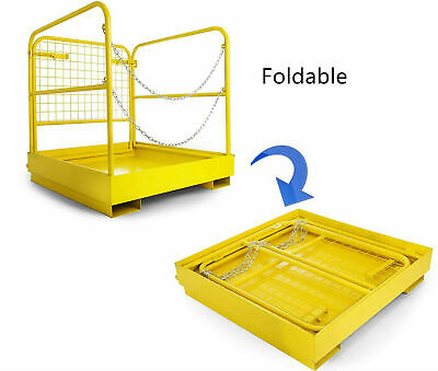 3636 Forklift Safety Cage Work Platform Heavy Duty Durable Built-in Chains