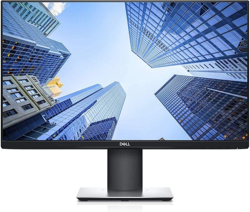 """DELL P2419H 24"""" FHD DisplayPort HDMI VGA USBHub LED Pivot Height Adj IPS Monitor"""