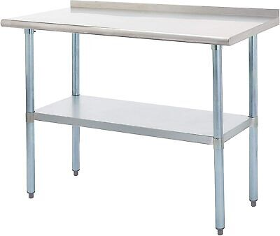Rockpoint Carmona Tall Nsf Stainless-steel Commercial Kitchen Work Table With Ba