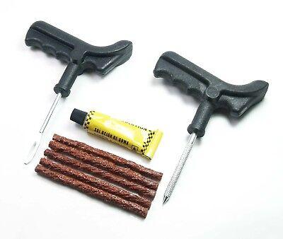 Craft-Equip Reifenreparatur- Set Reifen Pannenhilfe Auto Flickwerkzeug Satz PKW