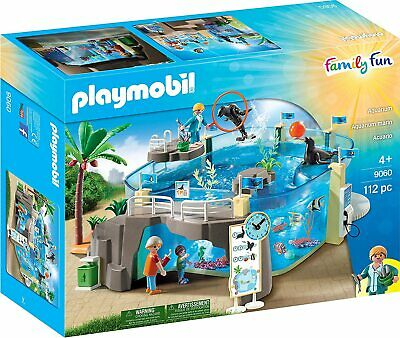 Playmobil 9060 Family Fun Aquarium Kids Toy Animal Playset, Fill with Water! New