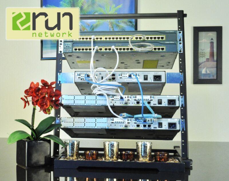 Cisco Premium CCENT CCNA CCNP R&S SECURITY Home Lab KIT BONUS 12U Rack & DVD