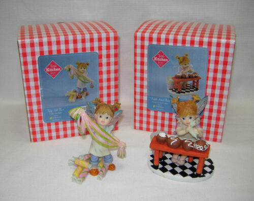 My Little Kitchen Fairies Lot of 2   TAFFY PULL FAIRIE   TRUFFLE ARTIST FAIRIE