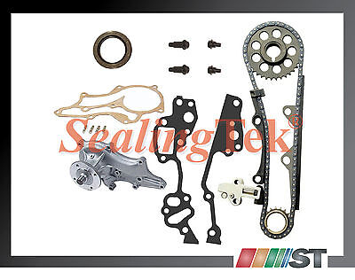 85+ Toyota 22re Hd Timing Chain Kit W/ Japan Water Pump + Steel Guide 22r Engine
