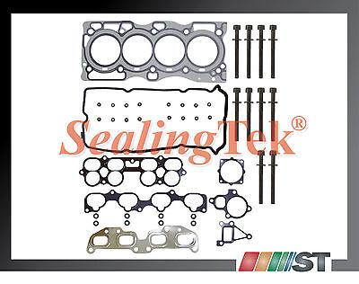 Fit 02-06 Nissan Qr25de Cylinder Head Gasket Set W/ Bolts 2.5l Engine Parts Kit