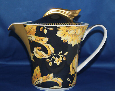 VERSACE BY ROSENTHAL VANITY TEAPOT 43 OUNCE NEW IN VERSACE BOX