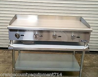 New 48 Gas Griddle Stand Atosa Atmg-48 4176 Commercial Plancha Flat Top Grill