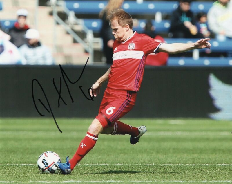 Dax McCarty signed 8x10 Photo w/COA Chicago Fire MLS USA Soccer #1