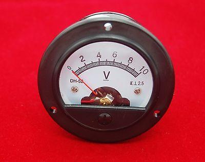 Dc 0-10v Round Analog Voltmeter Voltage Panel Meter Dia. 66.4mm Dh52