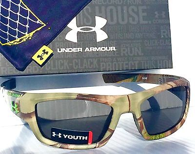 NEW* Under Armour ACE YOUTH in CAMO HUNT Satin Real Tree Grey Lens Sunglass $100