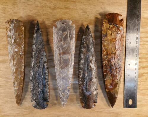 "8"" Average Flint/stone Arrowhead Spearhead Knife Blade Archery hunting #7-9"