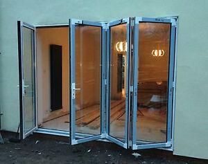 BIFOLDING DOORS ALUMINIUM ALTERNATIVE TO FRENCH PATIO SLIDING INC GLASS  £584.00