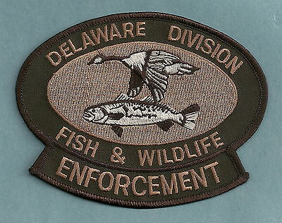 DELAWARE DIVISION OF FISH & WILDLIFE POLICE PATCH BROWN