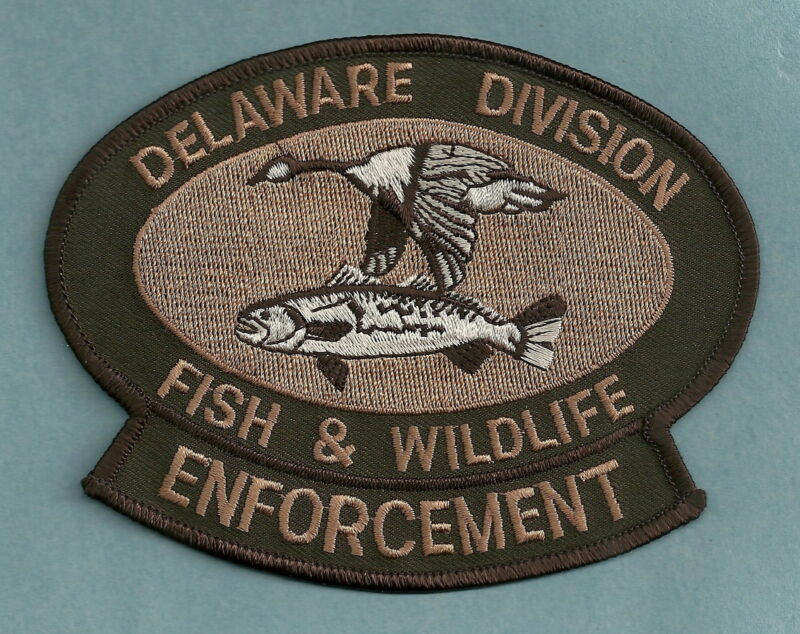 DELAWARE DIVISION OF FISH & WILDLIFE ENFORCEMENT SHOULDER PATCH BROWN