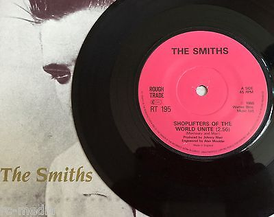 The Smiths  Shoplifters Of The World  Very Rare Irish Translucent Vinyl 7  Solid