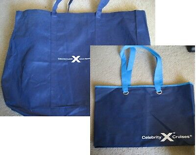 2 Celebrity Cruise Line Navy Blue Totes Beach Bags