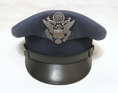 USAF U.S. Air Force Officer's Visor Hat Luxenberg 7 1/4 Dated 1959 Near Mint