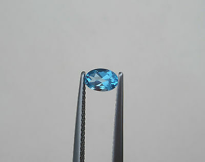 Natural Oval Swiss (Swiss Blue Topaz Oval Faceted Loose Natural Gem 6x4mm)