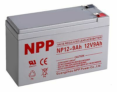 Npp 12V 9 Amp 9Ah Battery For Apc Back Ups Xs1500 Rbc109 Replaces Ps 1290 F2