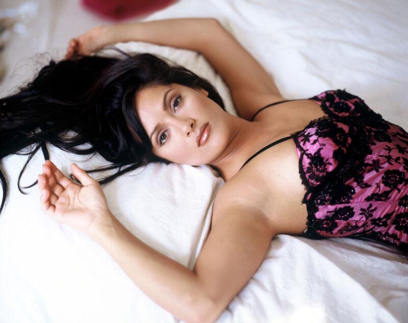 Salma Hayek Posng With Lingerie 8x10 Photo Print