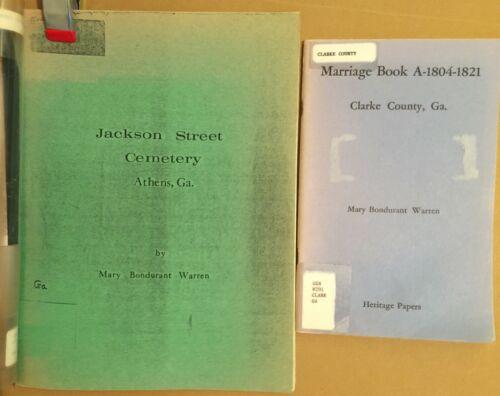Clarke County Georgia marriages Athens Jackson Street cemetery