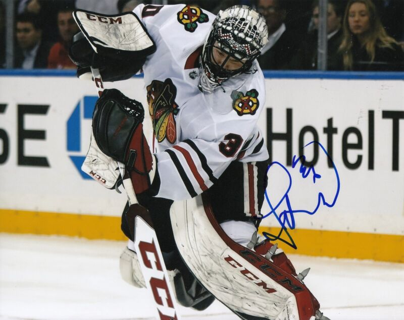 JEFF GLASS signed (CHICAGO BLACKHAWKS) autograph HOCKEY 8X10 photo W/COA