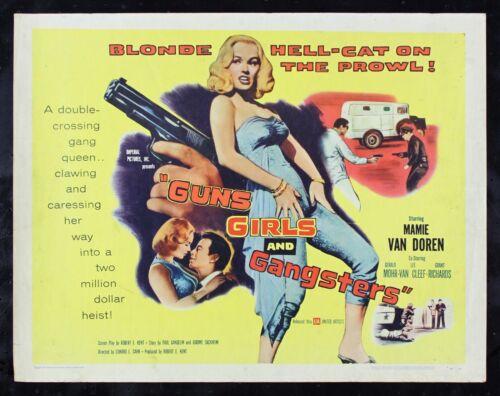 GUNS GIRLS & GANGSTERS ✯ CineMasterpieces ORIGINAL MOVIE POSTER MAMIE VAN DOREN