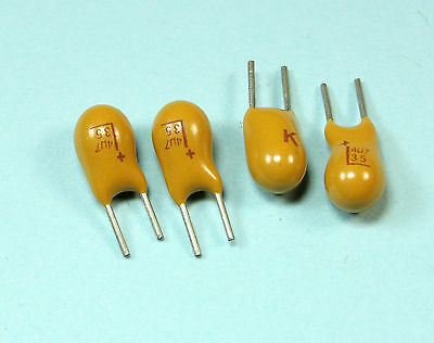 New 12pcs Kemet Dipped Tantalum Radial Capacitor 4.7uf 35v
