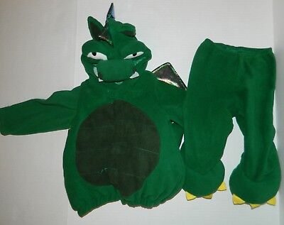OLD NAVY Green Fleece DRAGON DINOSAUR Halloween COSTUME 12 18 24 months (Dinosaur Halloween Costume Old Navy)