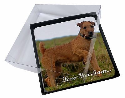 4x Lakeland Terrier 'Love You Mum' Picture Table Coasters Set in Gif, AD-LT1lymC